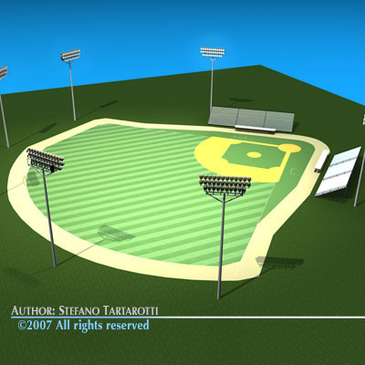 Stadium clipart 3d model 3 field 3ds 3d model
