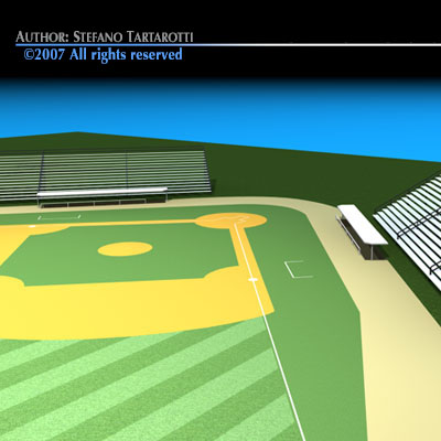 Stadium clipart 3d model 2 field 3ds 3d model