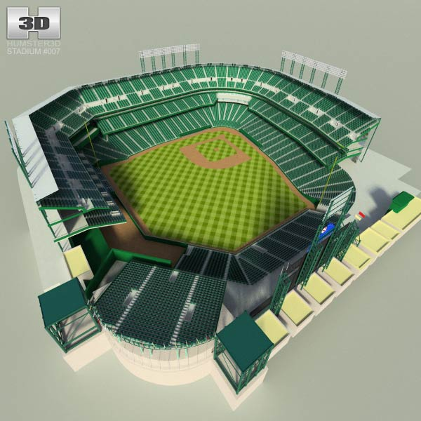 Stadium clipart 3d model Model we ballpark a Coors