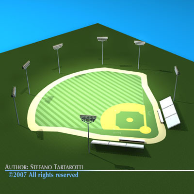 Stadium clipart 3d model 3DS DXF 3D model Baseball