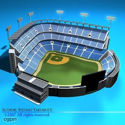 Stadium clipart 3d model 3d model Baseball stadium model