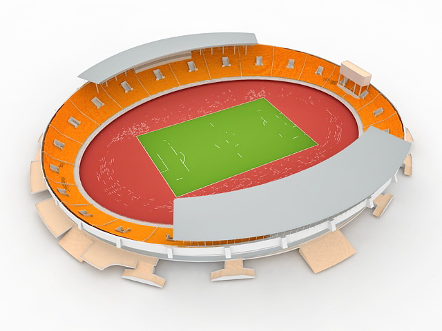 Stadium clipart 3d model 3D Max and free format: