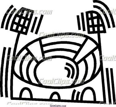 Stadium clipart black and white Clipart Stadium Clip Panda Free