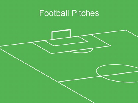 Stadium clipart football ground Football template  pitch