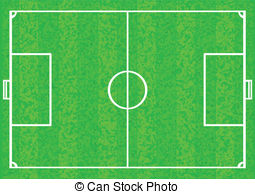Stadium clipart football ground Soccer field pitch of with
