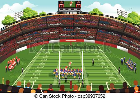 Stadium clipart football stadium Stadium Football American Vector A