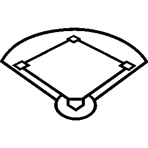 Stadium clipart softball field #7