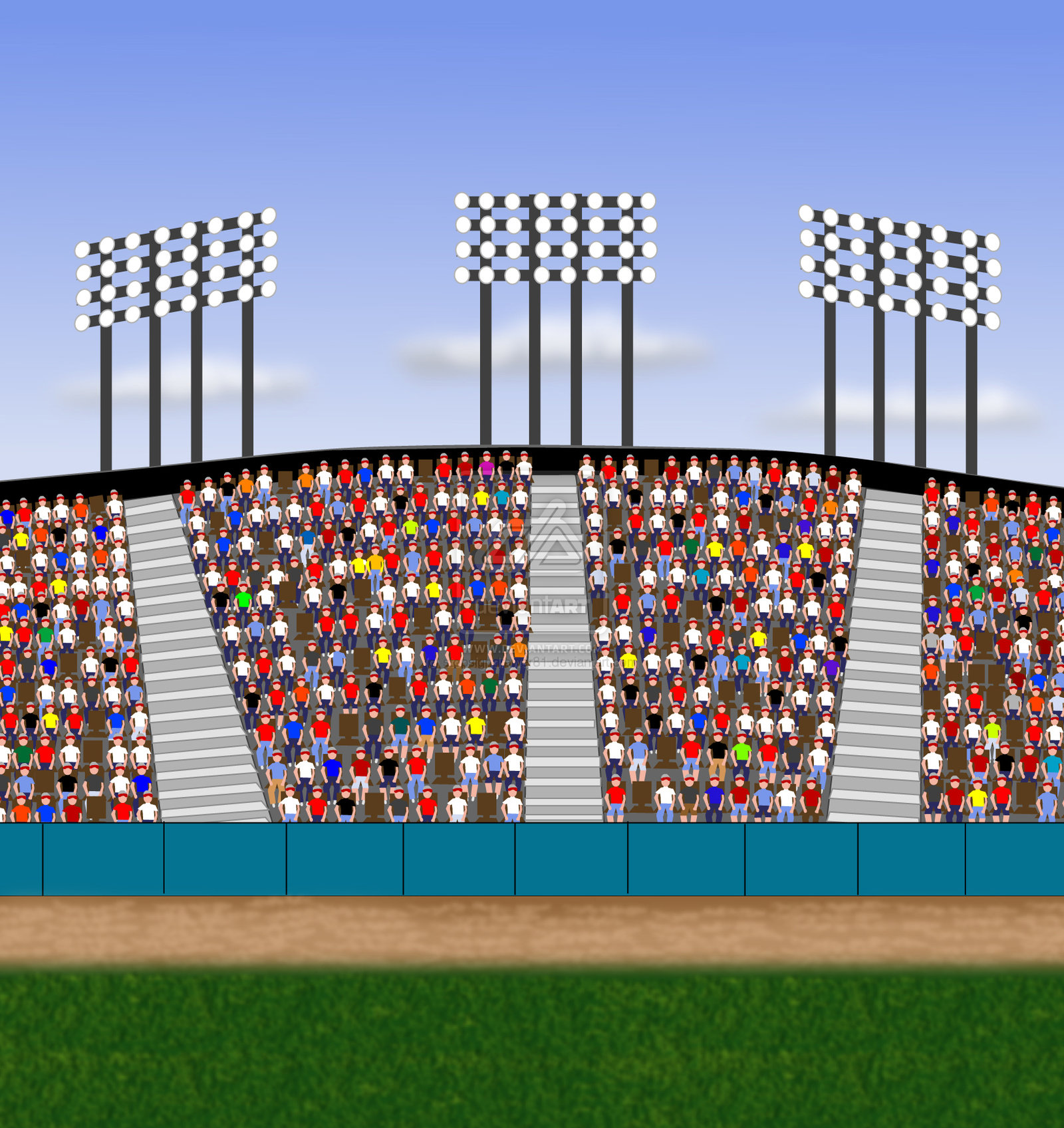 Stands clipart sport crowd Cliparts Stadium Clipart Clip Sports
