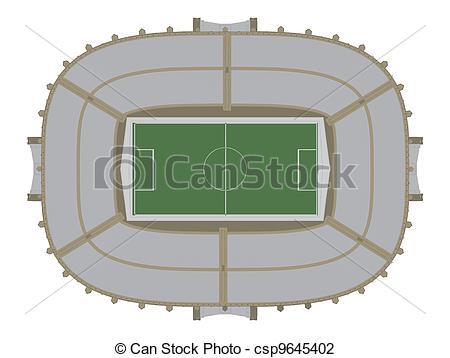 Stadium clipart vector Football Illustration csp9645402 Vector of