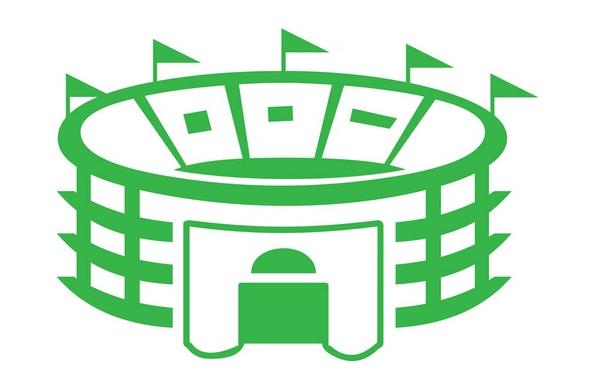 Stadium clipart vector  download vector art Building
