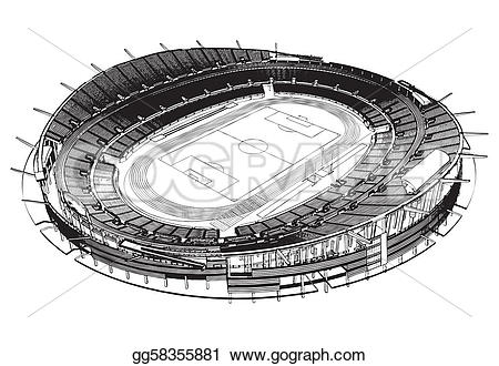 Stadium clipart vector Drawing vector soccer stadium Clipart