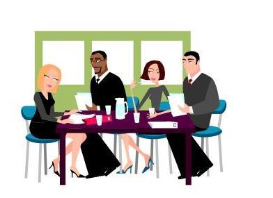 Date clipart employee meeting Clip Clipart Meeting Art Staff