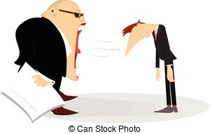 Staff clipart boss And scolds 922 Angry his