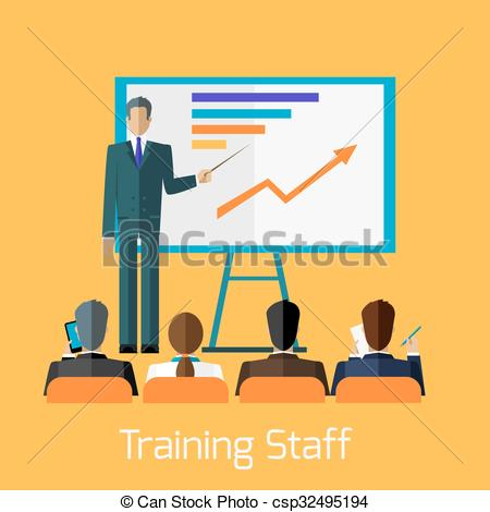 Staff clipart corporate team Presentation Staff Training Briefing of