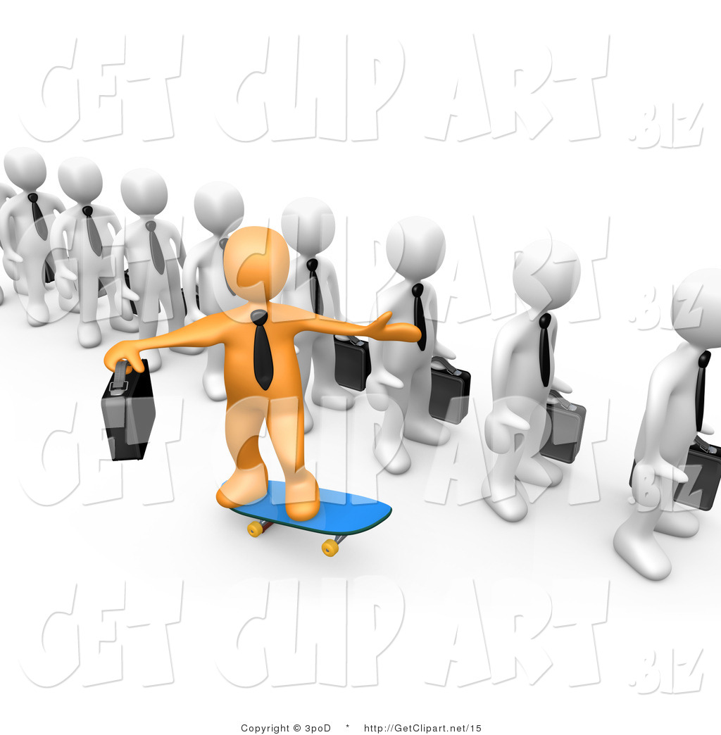 3D clipart boss Images Panda Employees Free Clip
