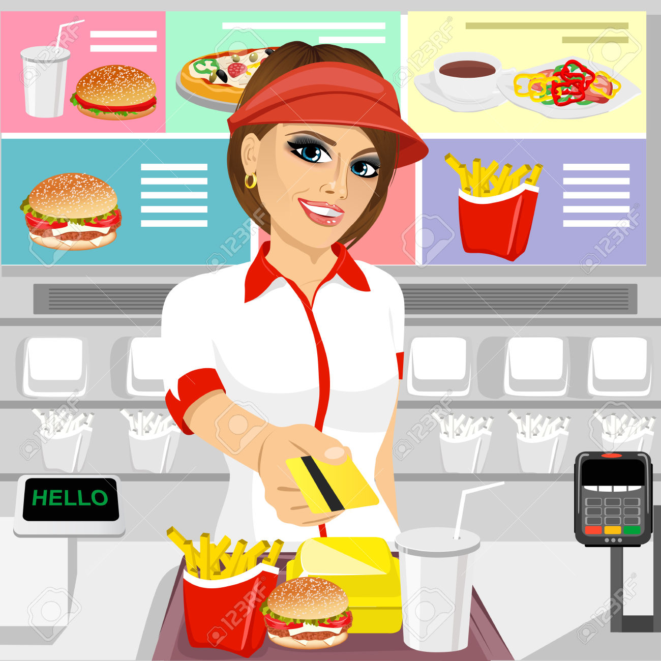 Staff clipart fast food Lunch lunch Cliparts Cliparts clipart