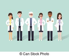 Staff clipart hospital staff Vector and characters team hospital