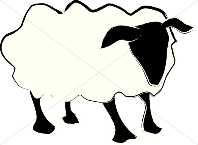 Simple clipart sheep Abstract Clipart Lamb A Christian