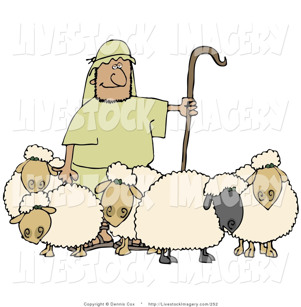 Staff clipart lamb And Holding Designs Livestock Lambs
