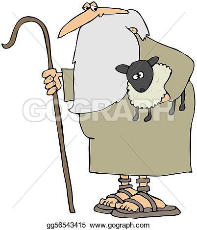 Staff clipart lamb Shepherd illustration Stock lamb Clipart
