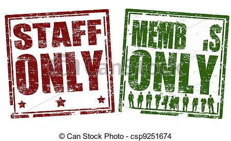 Staff clipart only Grunge and member stamps EPS