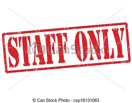 Staff clipart only Rubber only stamp grunge Vector