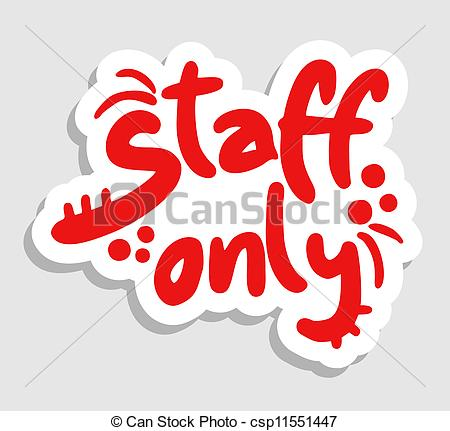 Staff clipart only Only csp11551447  Staff only