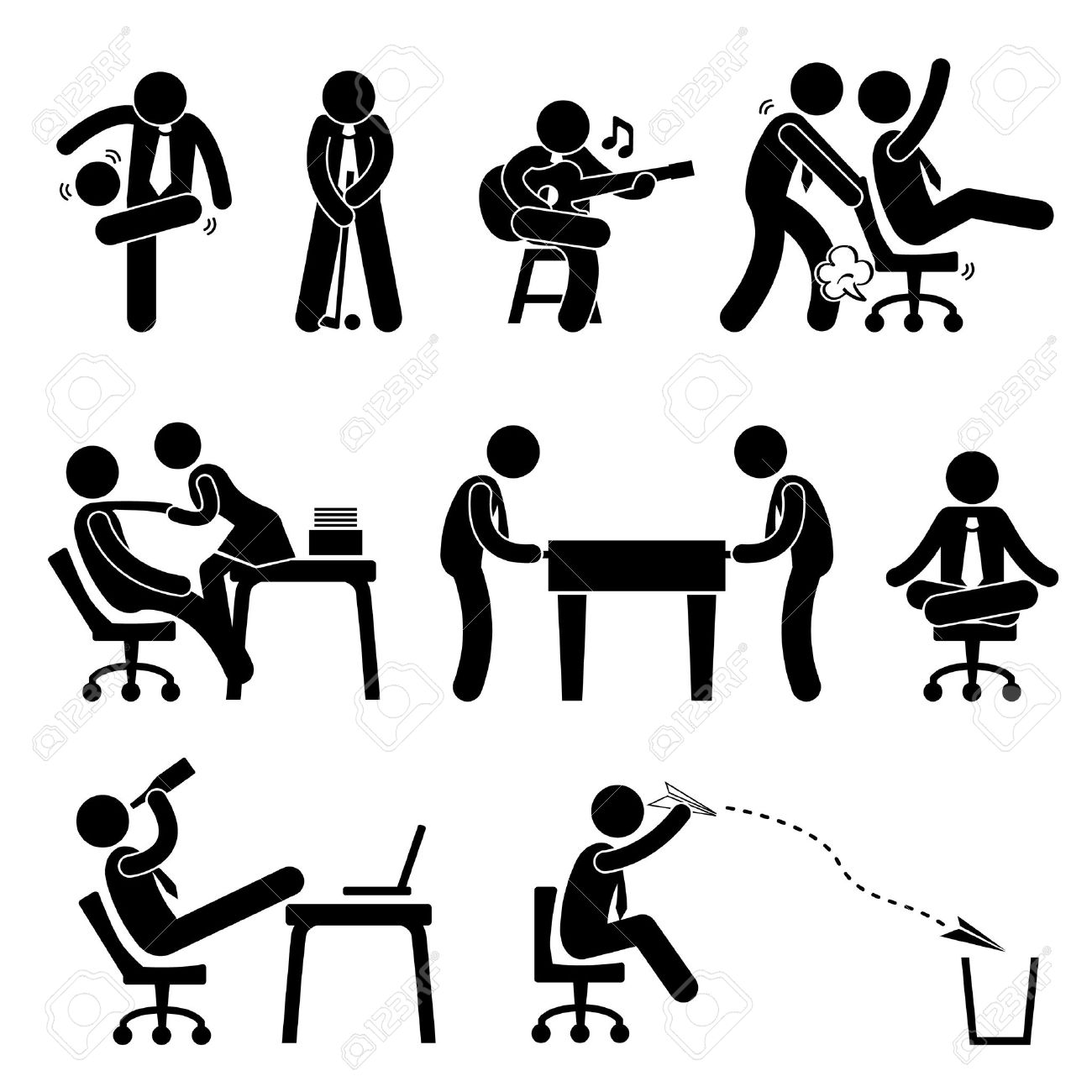 Figurine clipart employee Playing Cliparts Office  Workplace