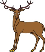 Stag clipart Or Stag Arms Gaze Coat