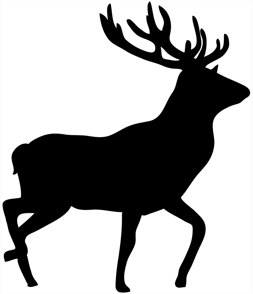 Stag clipart And Black  Clipart Free