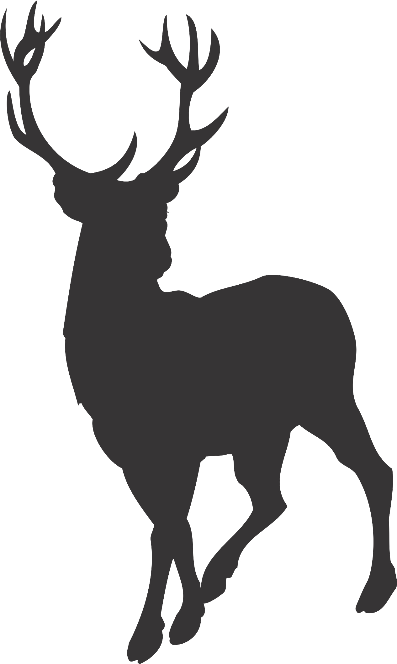 Buck clipart deer silhouette Collection cartoon search Http://www elk