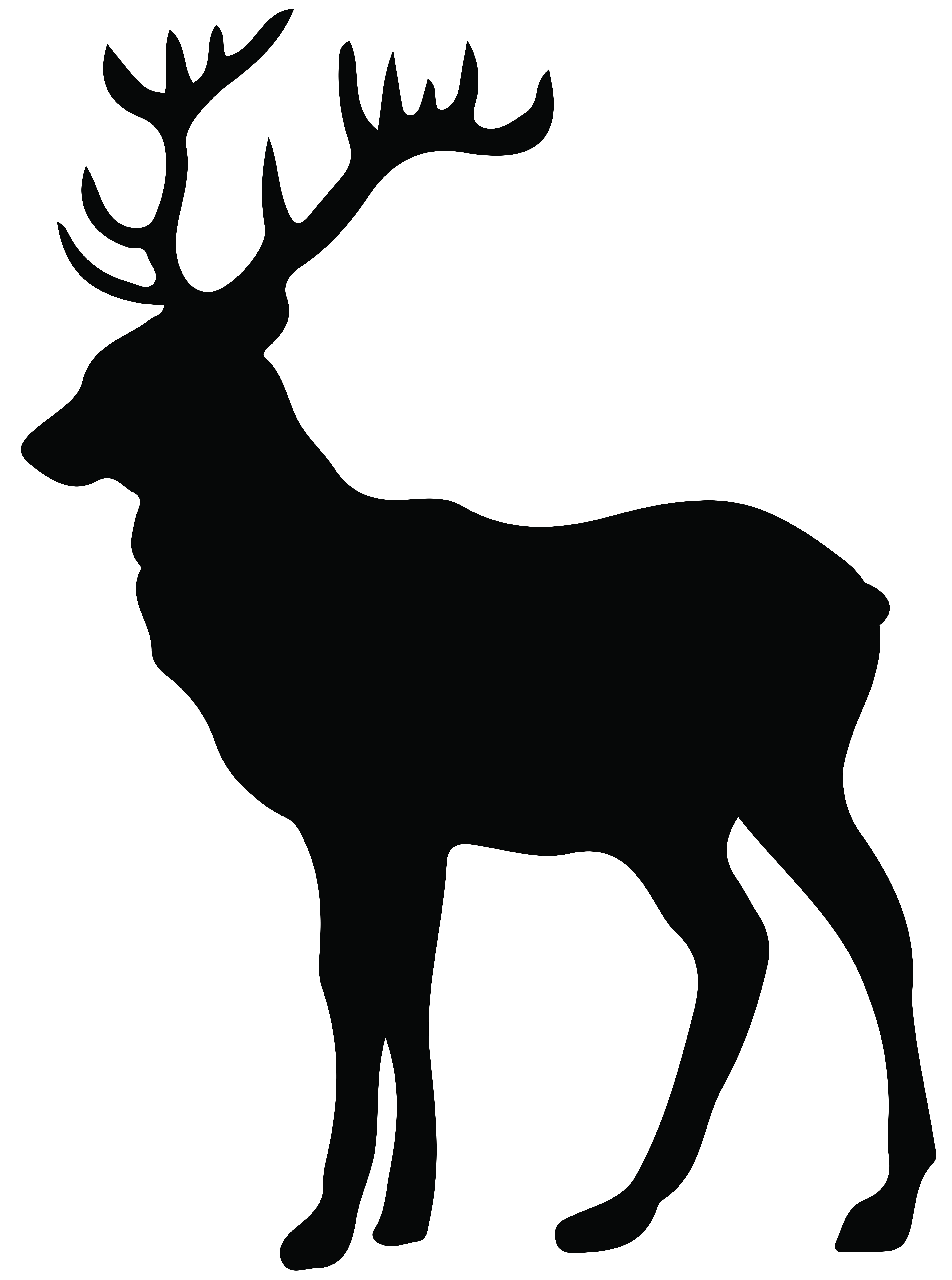 Stag clipart Transparent PNG Silhouette Gallery Image