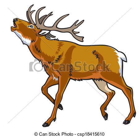 Stag clipart Art Clip view Vector stag