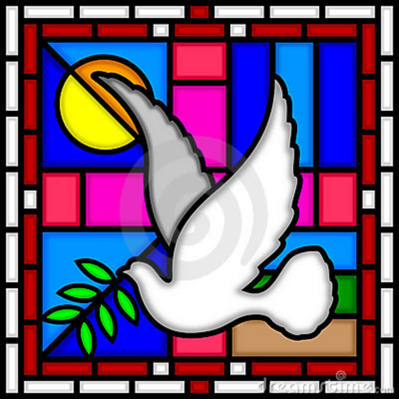 Simple clipart stained glass window #2