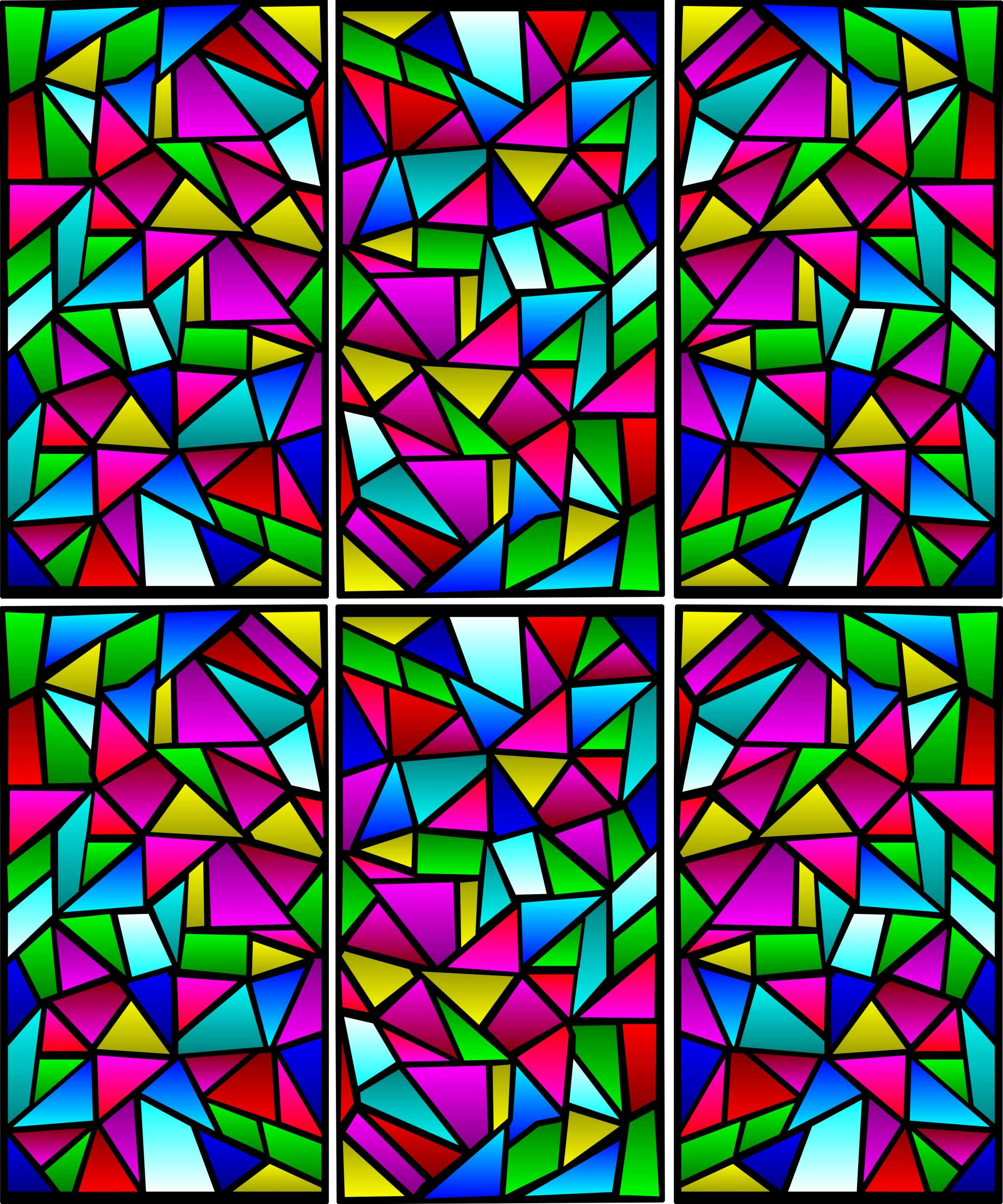 Stained Glass clipart Window Window Art Colorful Clipart