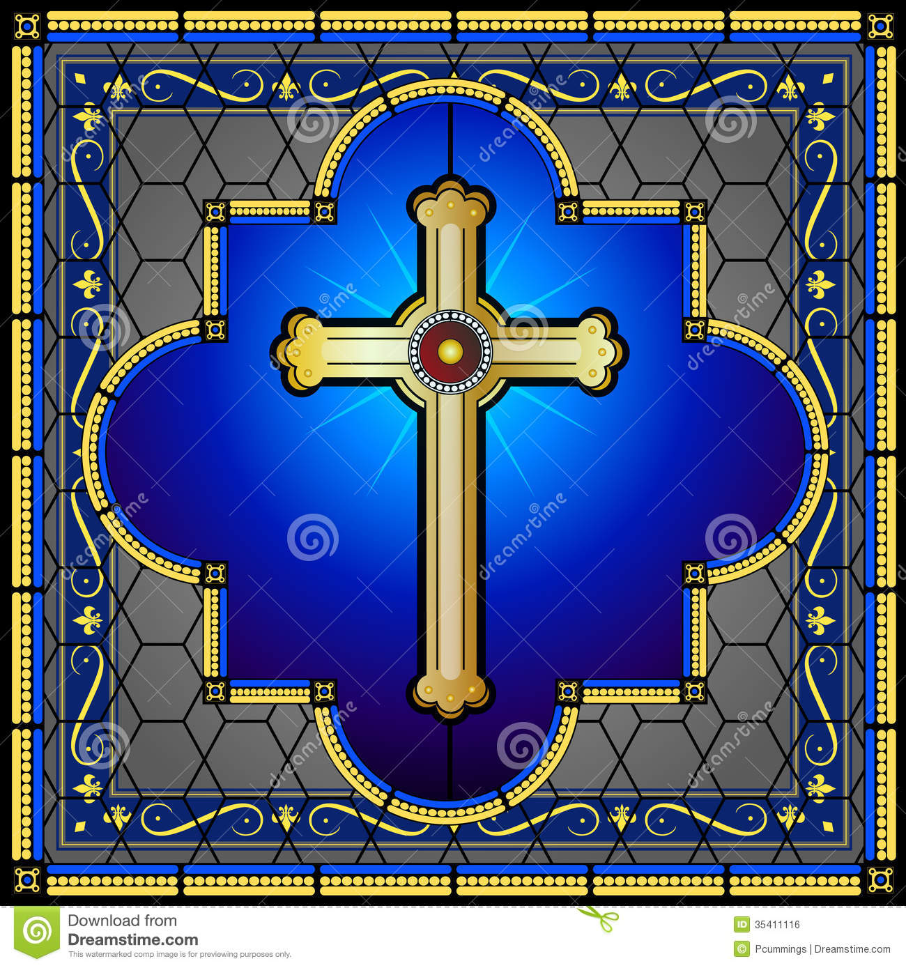 Stained Glass clipart bethlehem Cross Free Panel Stock