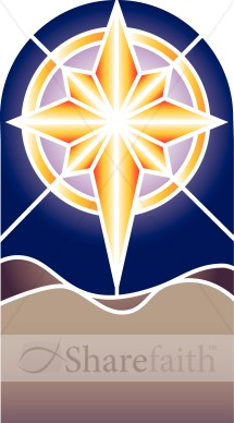 Stained Glass clipart bethlehem Stained  Nativity Epiphany Star