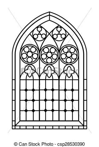 Window clipart church windows  Vector Stained of Clipart