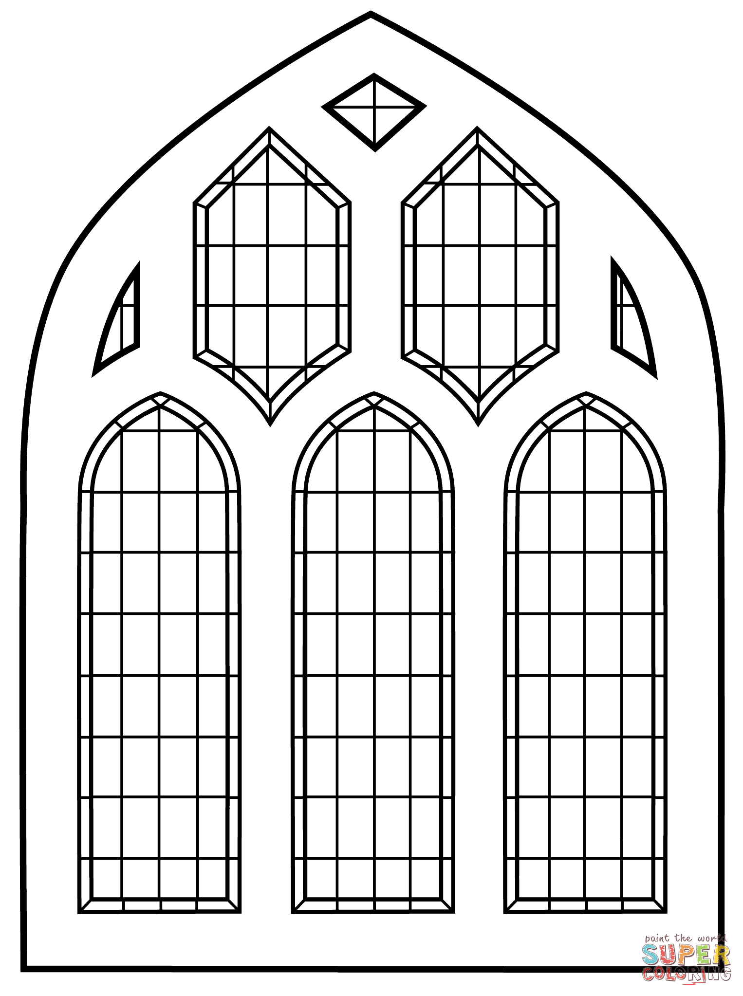 Stained Glass clipart catholic school Glass coloring pages Pages Coloring