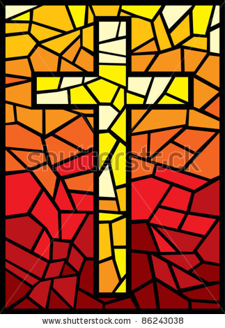 Stained Glass clipart catholic school (cross 14992886 in stained glass