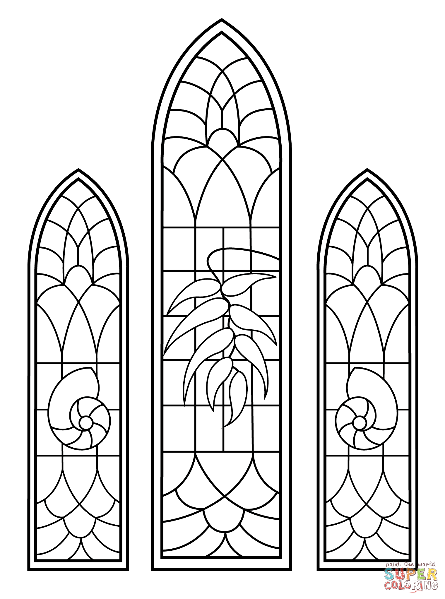 Simple clipart stained glass window #10