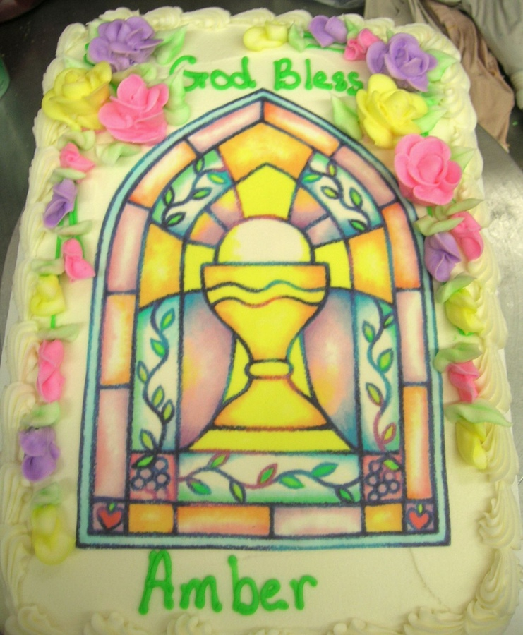 Stained Glass clipart chalice host #6