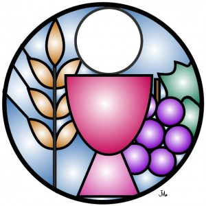 Stained Glass clipart chalice host #7