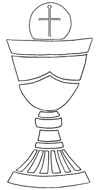 Stained Glass clipart chalice host #3