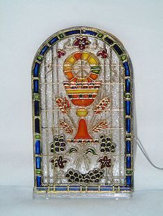 Stained Glass clipart chalice host #9