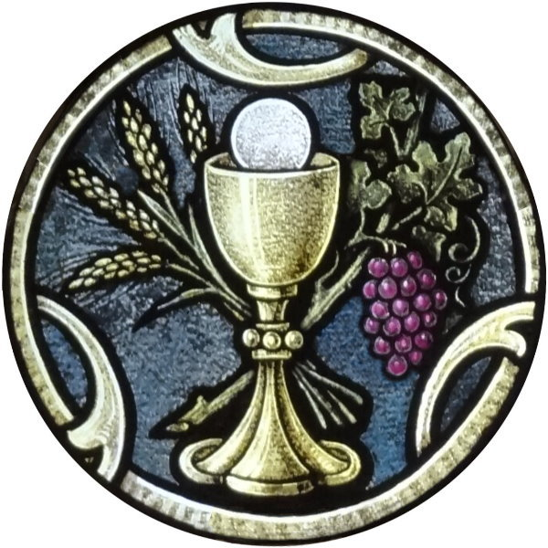 Stained Glass clipart chalice host #4
