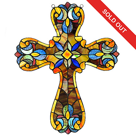 Stained Glass clipart cross Style 5