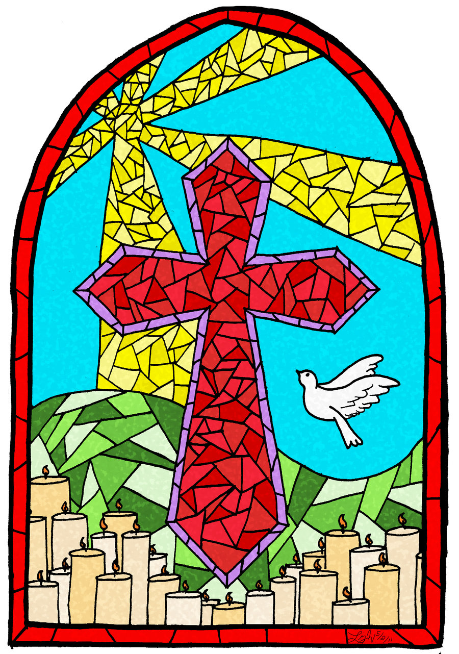 Stained Glass clipart cross Stained Cross Glass Stained Glass