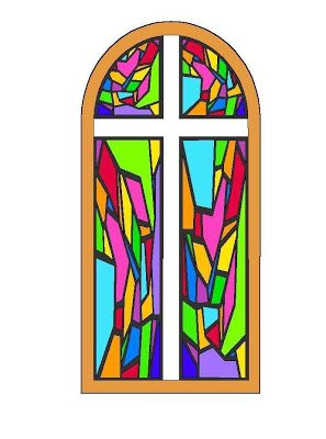 Stained Glass clipart cross With Google Children's on sunrays