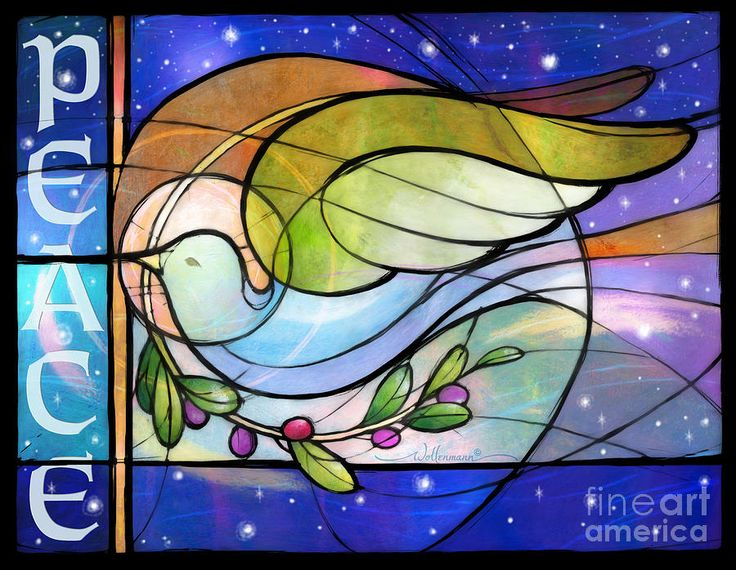 Stained Glass clipart dove peace Doves about Stained peace peace
